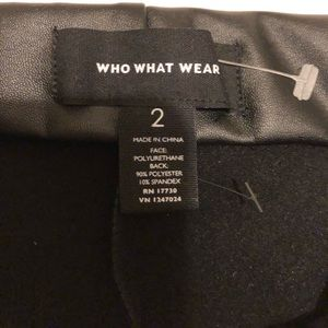 Who What Wear faux leather career pants size 2 NWO